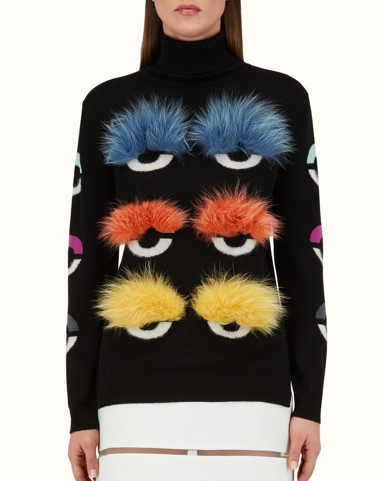 Fendi Pre-Fall 2015 Bag Bugs Sweater