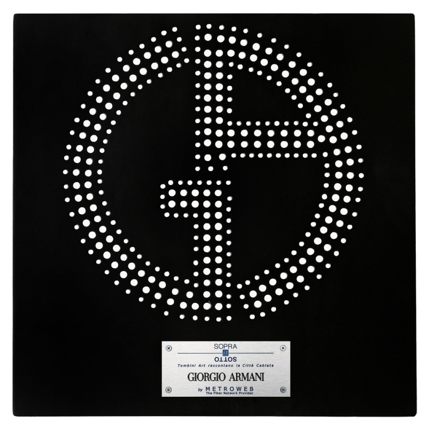 Giorgio Armani Manhole Covers by fashion designers Milan