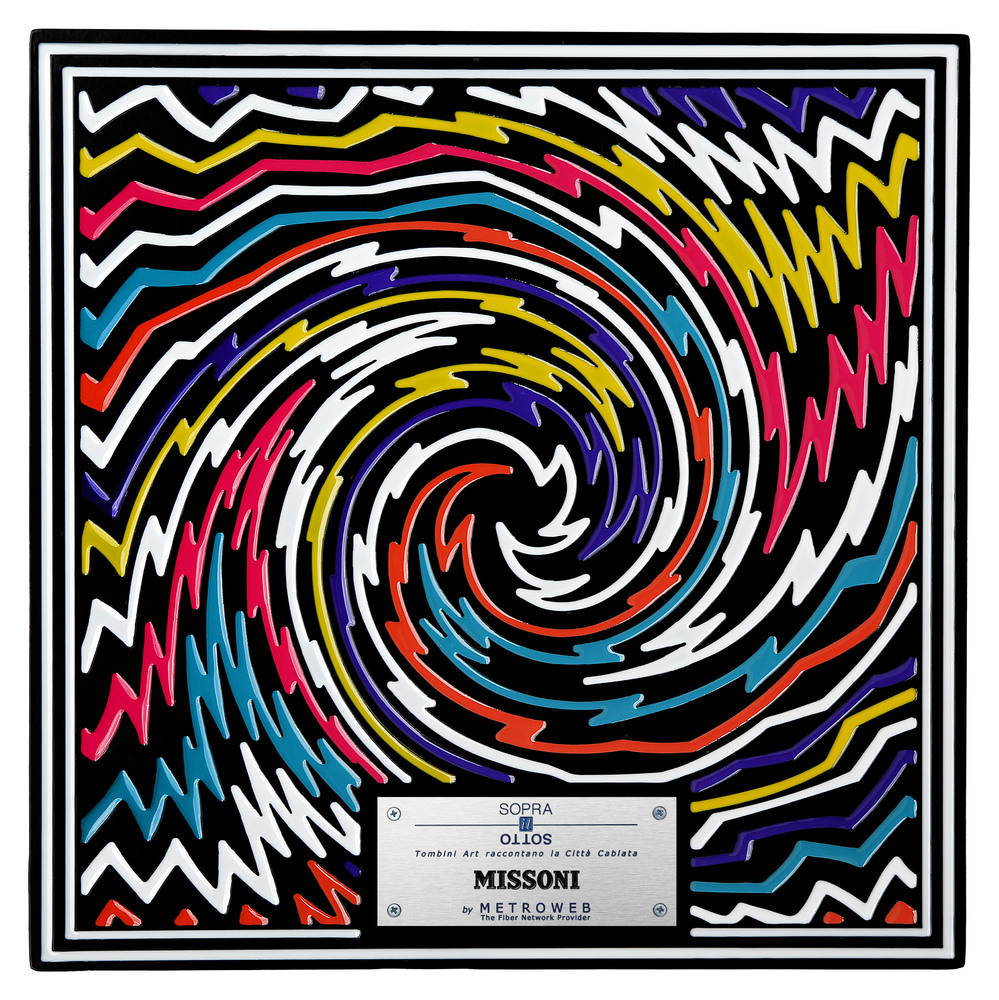 Missoni Manhole Covers by fashion designers Milan