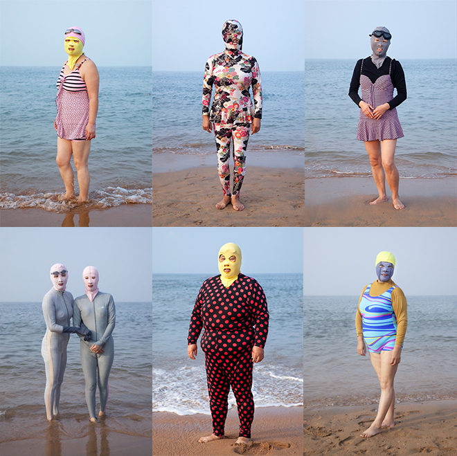 Philipp Engelhorn's faceskini series in Quingdao Beach