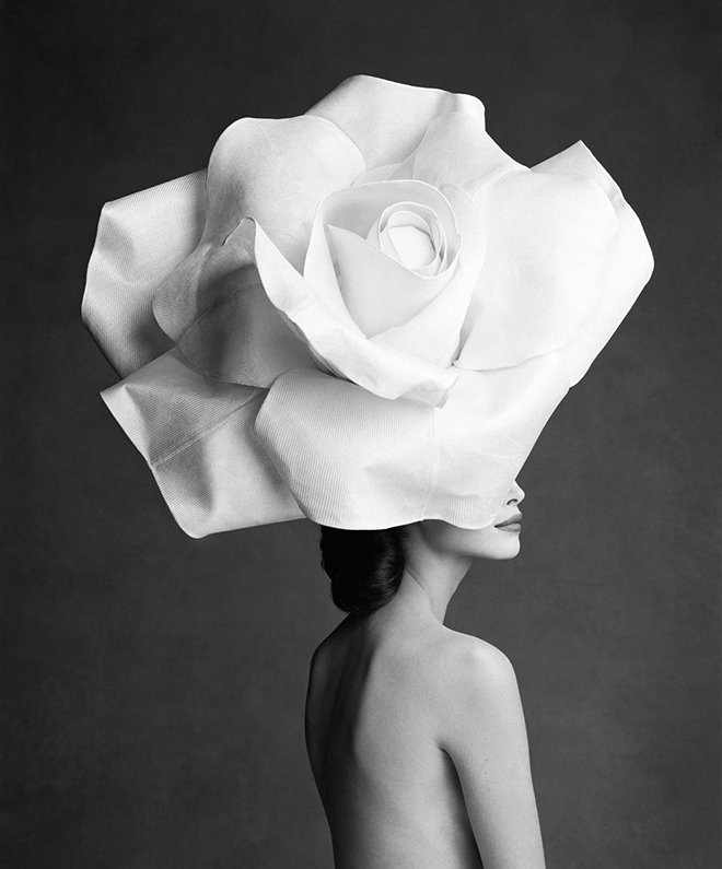Christy Turlington by Patrick Demarchelier - Hat by Stephen Jones