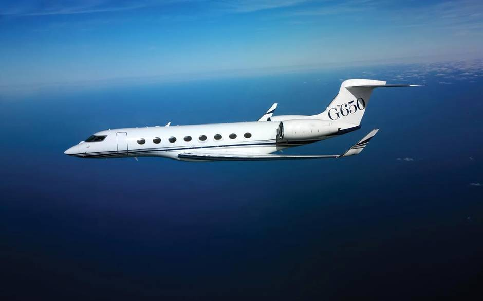 gulfstream 650 private jet image