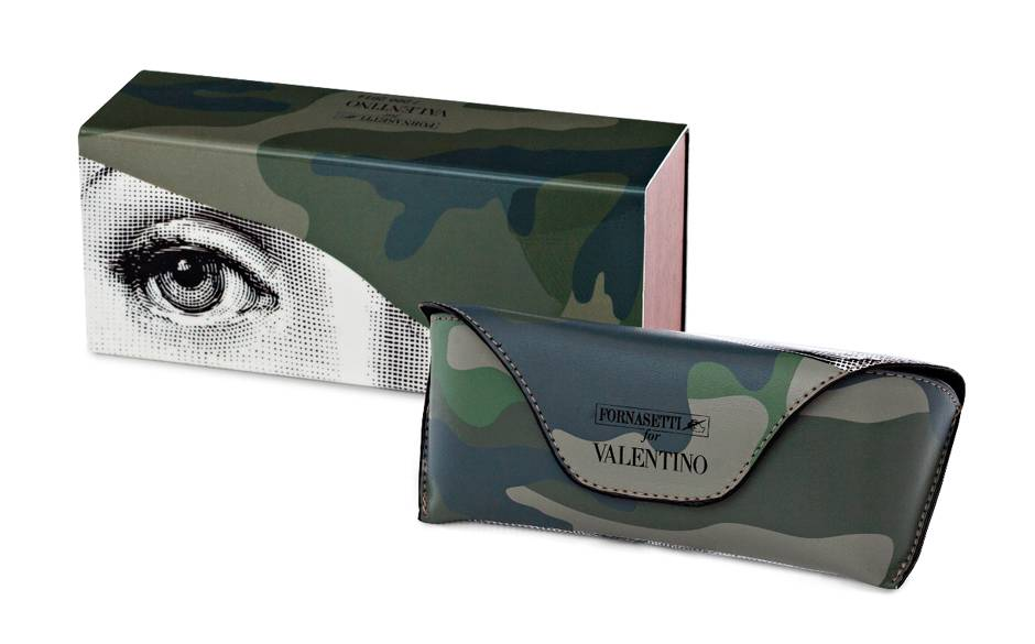 Valentino sunglasses case with Fornasetti