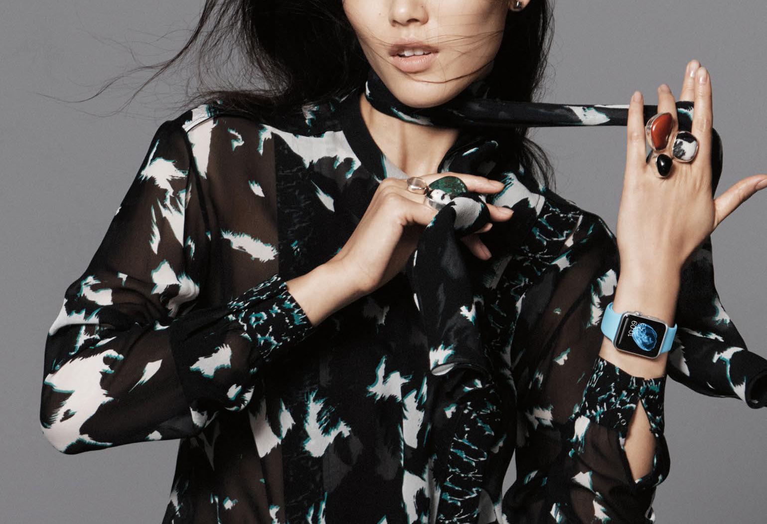 Liu Wen for Vogue China Apple Watch