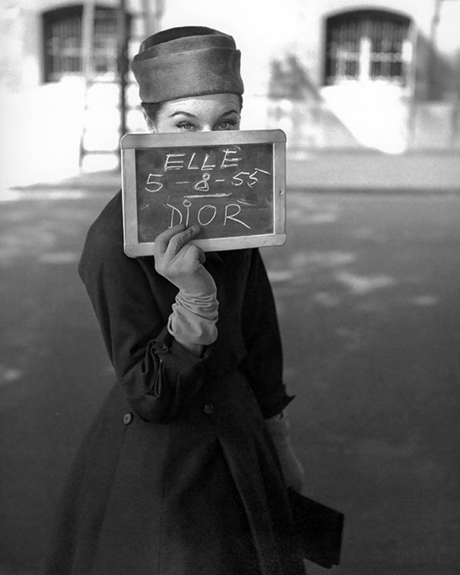 Bettina wearing Christian Dior, ELLE, 1955. © Georges Dambier