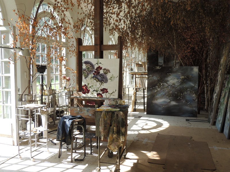 Claire Basler artist home Chateau Beauvoir