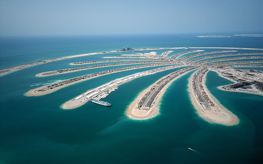 Artificial islands Dubai