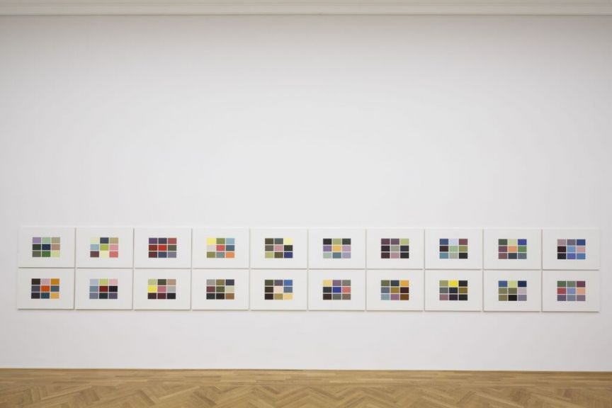 Gerhard Richter at Dominique Levy colour charts Frieze week 2015