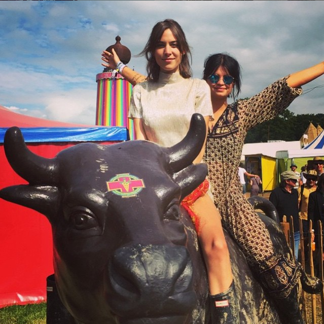 Alexa Chung Glastonbury Festival 2015