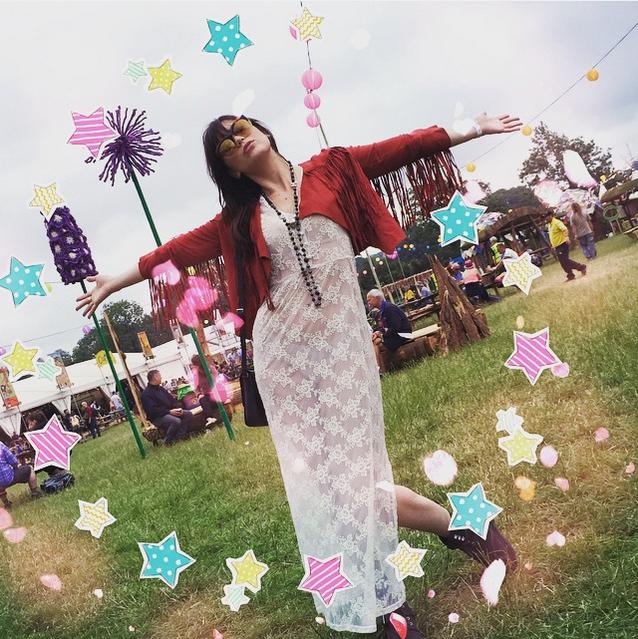 Daisy Lowe Glastonbury Festival 2015