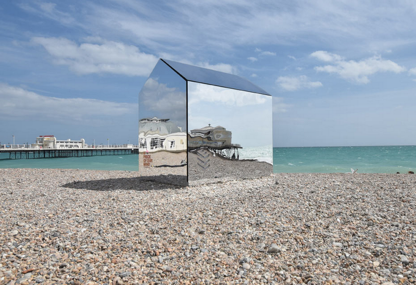 ECE Architecture mirror hut in Worthing beach