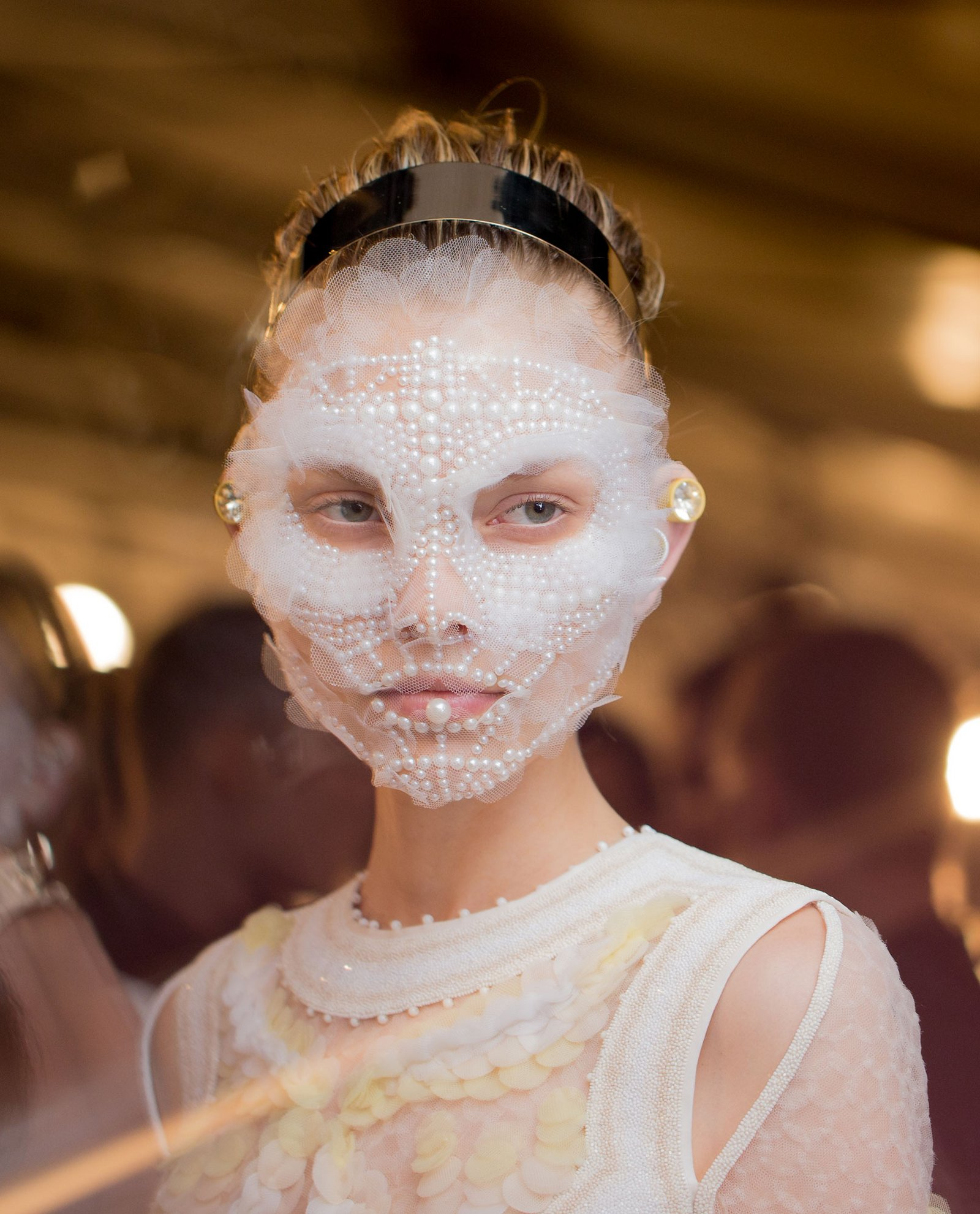 Givenchy facial mask SS16 designed by Pat McGrath photo by Kevin Tachman