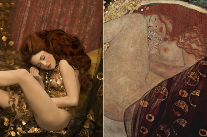 Danae Models recreate Gustav Klimt's most iconic paintings. Photos Life Ball and Inge Prader