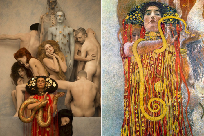 Hygeia Models recreate Gustav Klimt's most iconic paintings. Photos Life Ball and Inge Prader