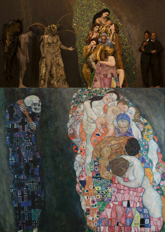 Tod und Leben Models recreate Gustav Klimt's most iconic paintings. Photos Life Ball and Inge Prader