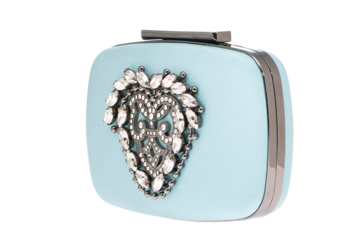 Manolo Blahnik Kana clutch in aqua