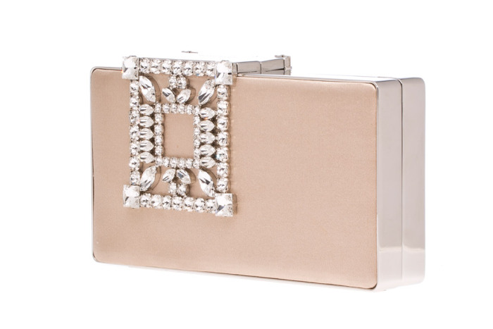 Manolo Blahnik Laka clutch in beige