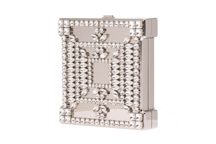 Manolo Blahnik mirrored Borla clutch