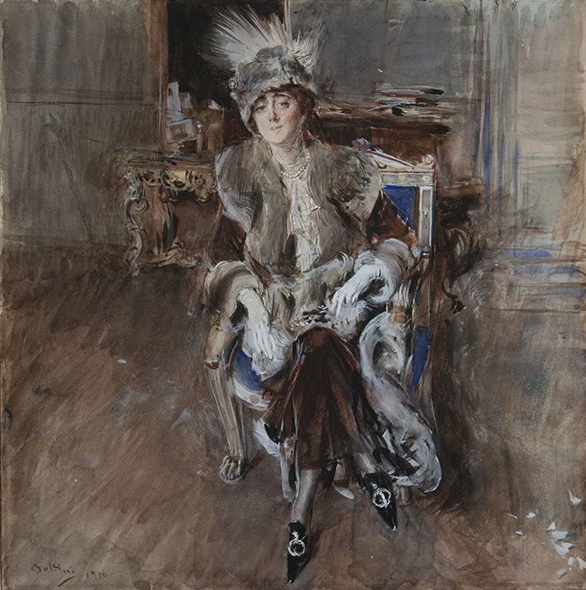 Giovanni Boldini Portrait of Lady Lacroix 1910. Bottegantica