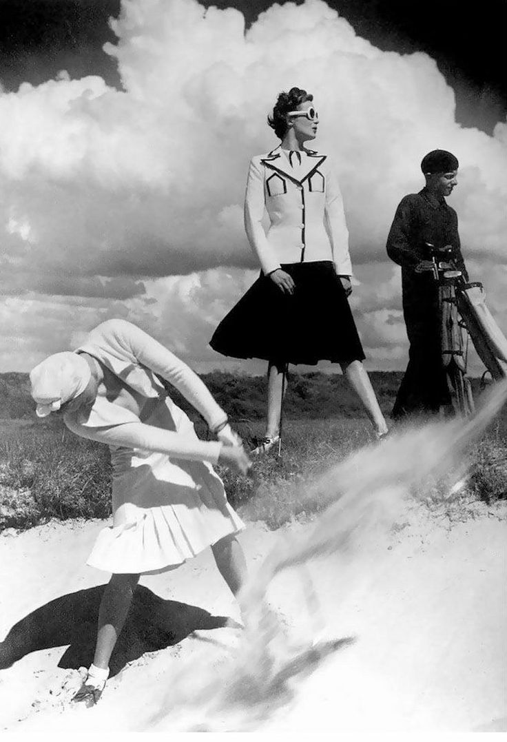 Golfing at Le Touquet Harpers Bazaar 1939 Norman Parkinson