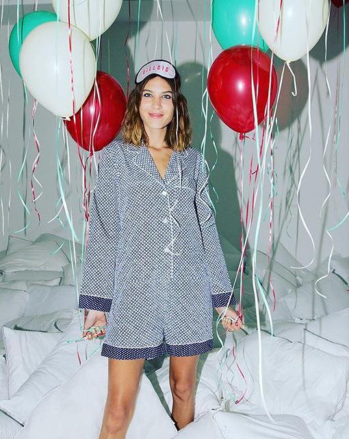 alexa chung pajama trend