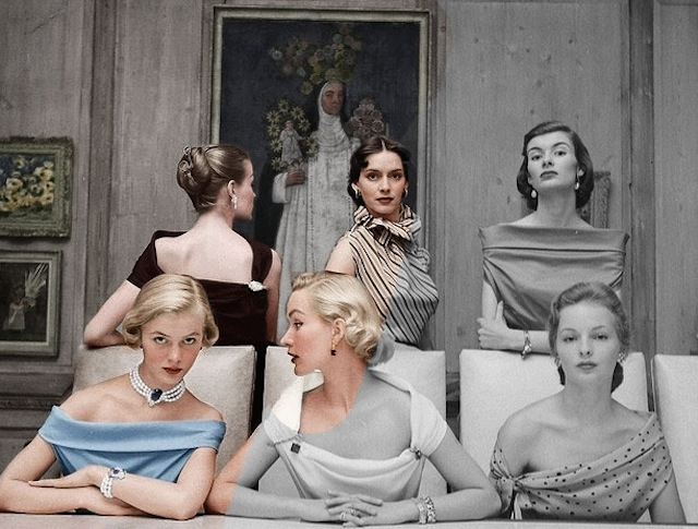 Black and white vintage photo GIF recolorized