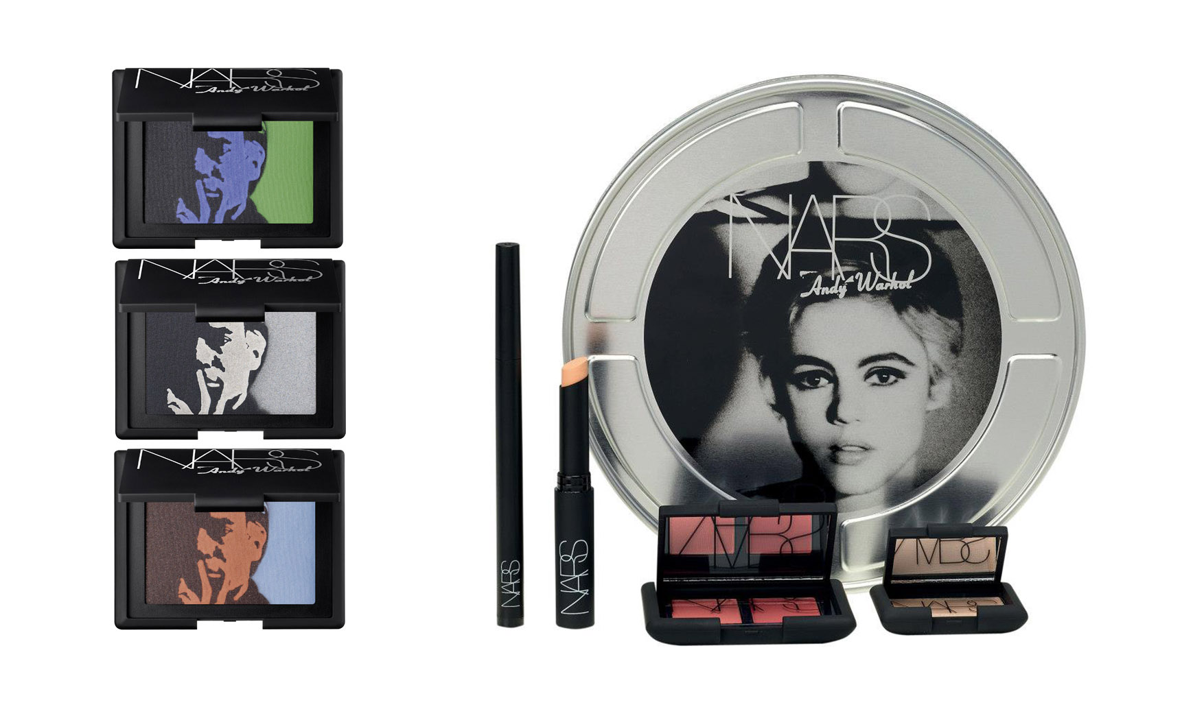 nars andy warhol lovely packaging cosmetics