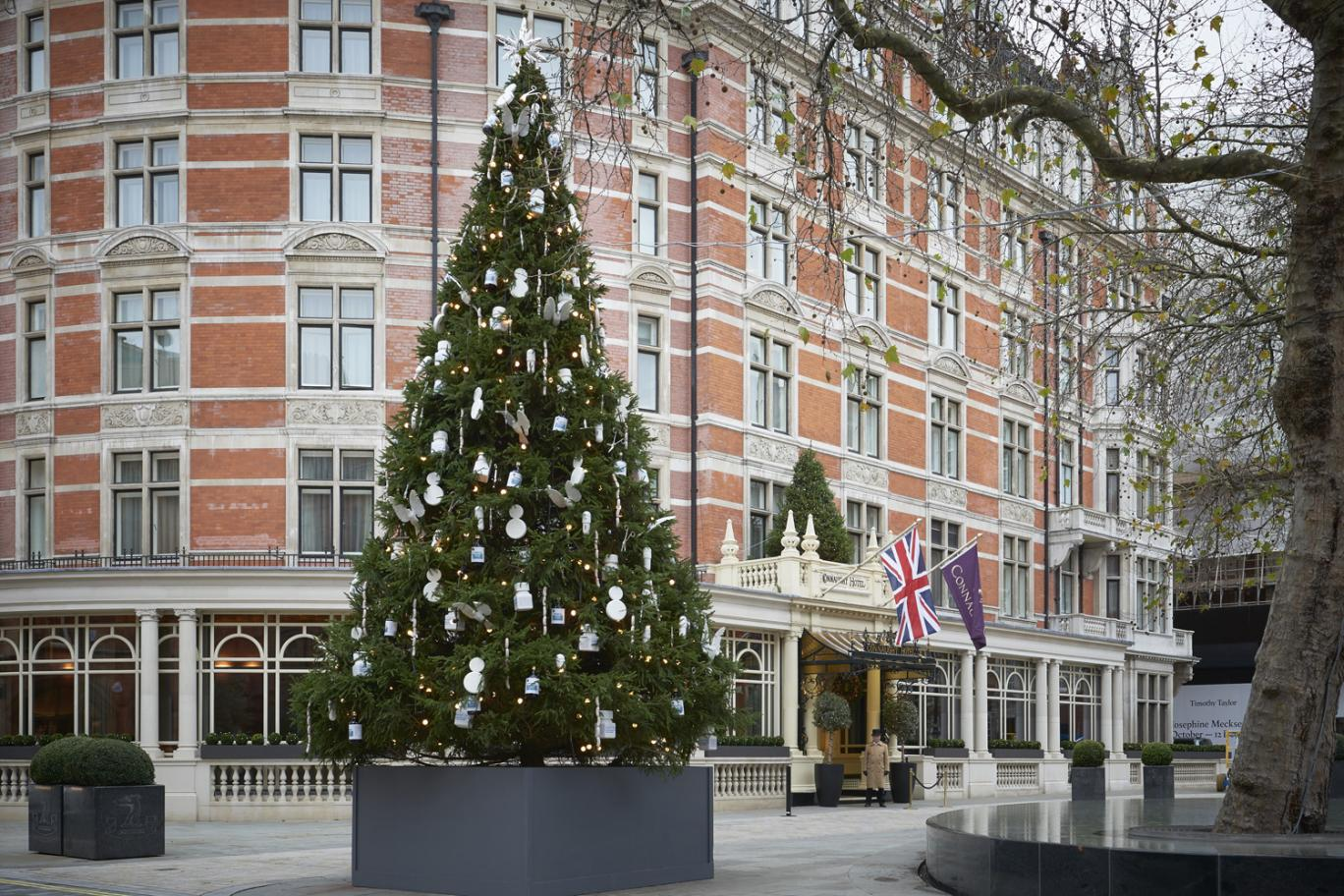 Connaught christmas tree by Damien Hirst