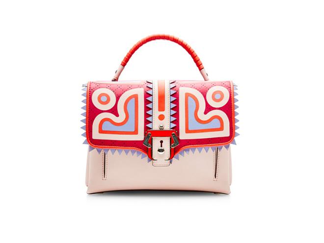 Paula Cademartori. Graphic Perforated Lether Handbag