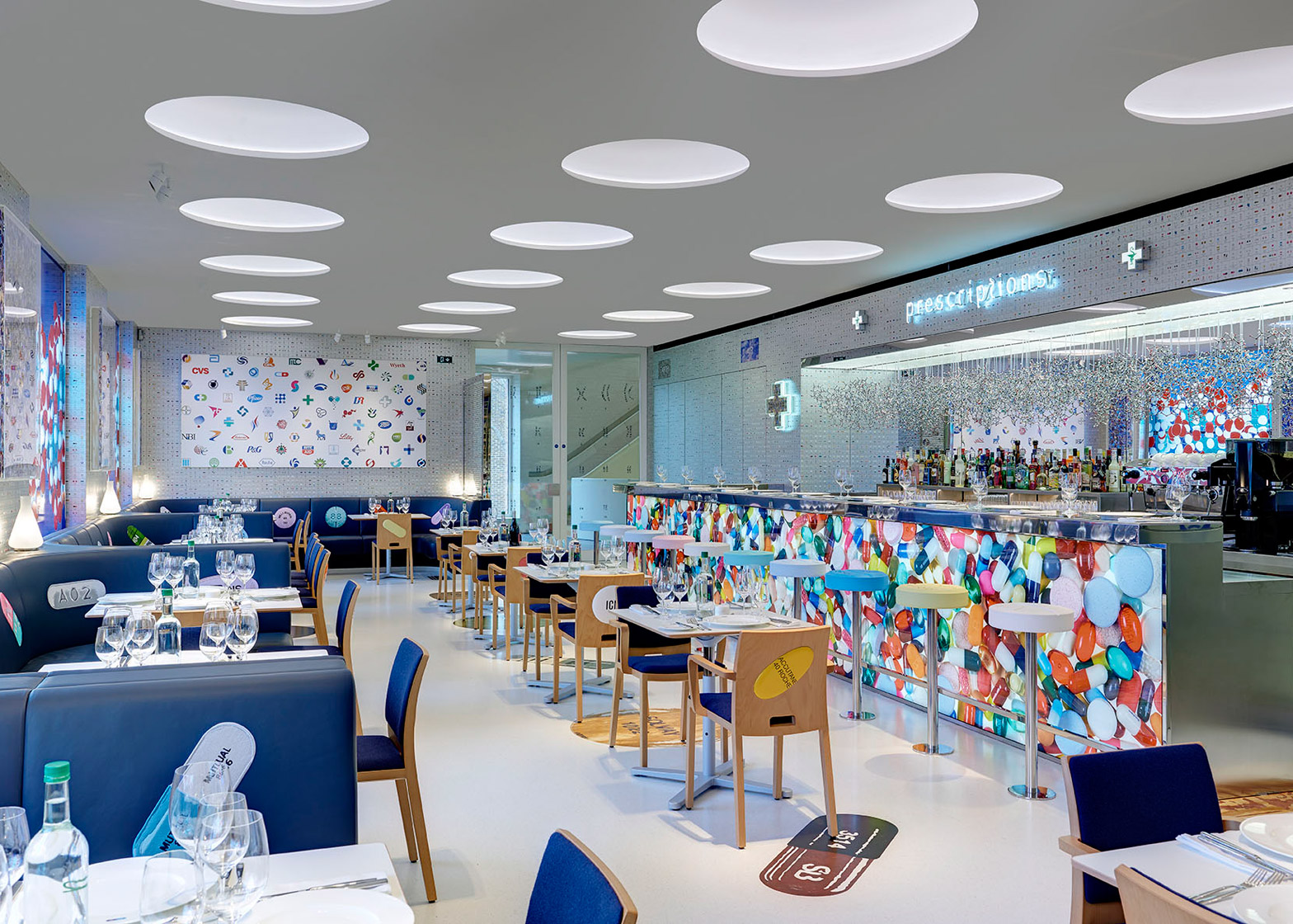 Damian Hirst and chef Mark Hix launch Pharmacy 2 restaurant