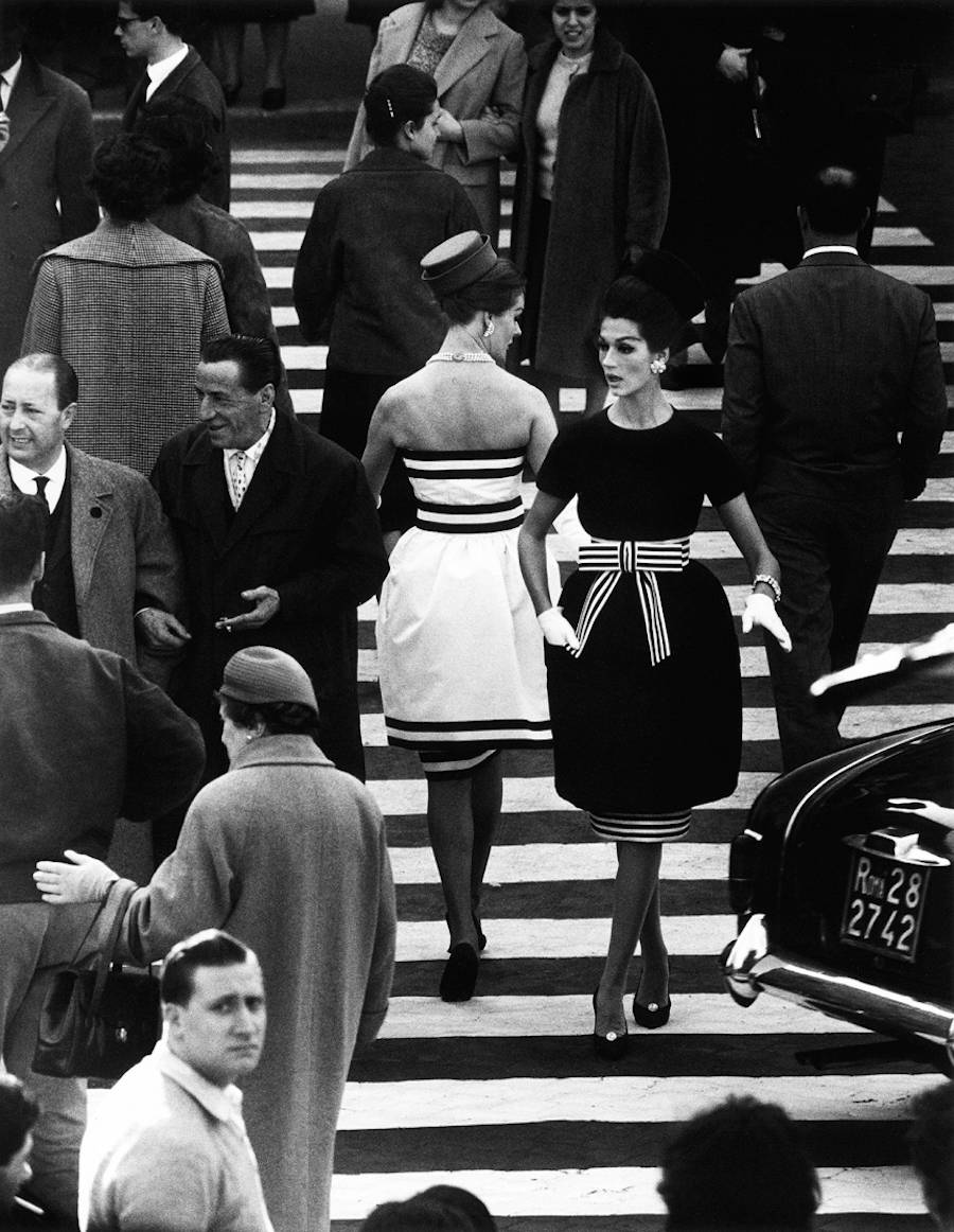 Nina and Simone by William Klein Piazza di Spagna Rome April 1960 Atlas Gallery