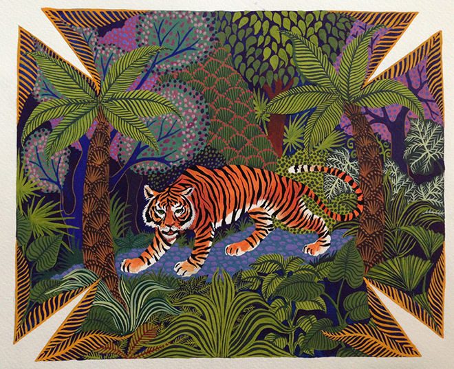 Alice Shirley Jungle of Eden Vide Poche design for Hermes 2015