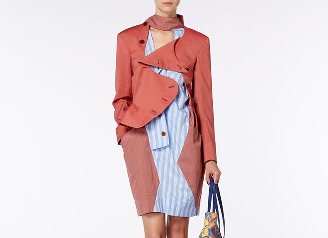 Rose Pink Tailored Evening Jacket Front Vivienne Westwood