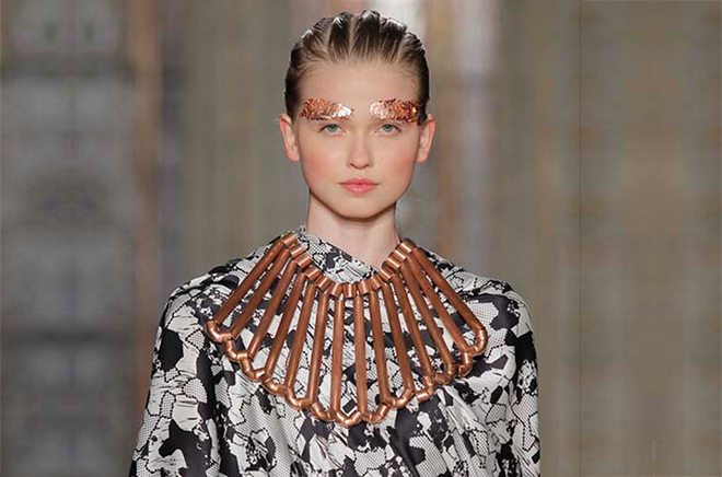 Copper Cleopatra Necklace - Susana Bettencourt London Fashion Week