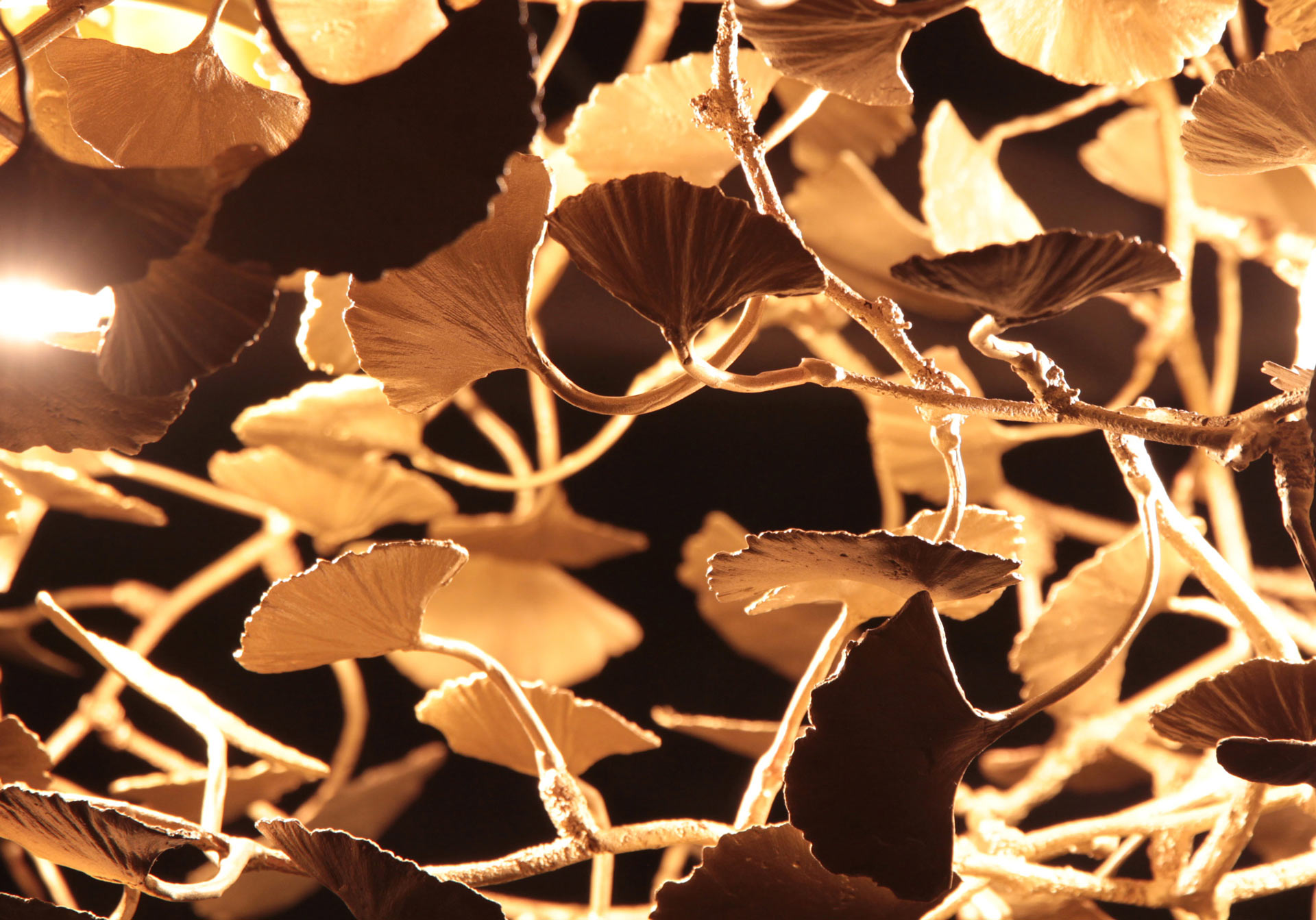 Ginkgo-chandelier-detail