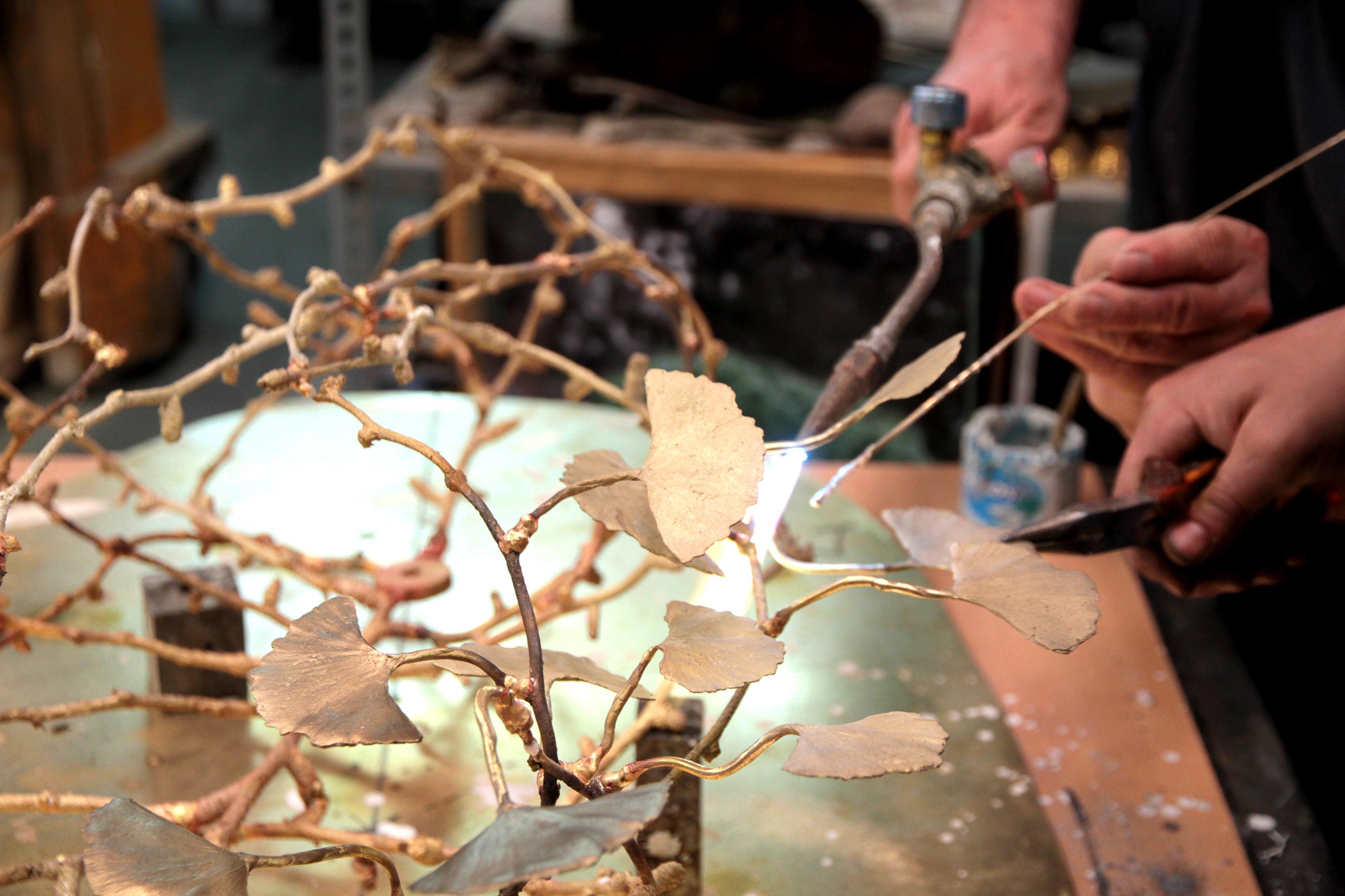 Ginkgo-chandelier-makingOf