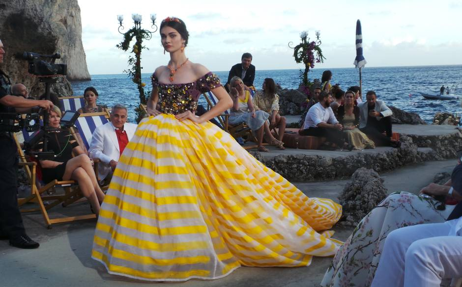 Dolce and Gabanna SS15. Private Alta moda collection show at Capri island