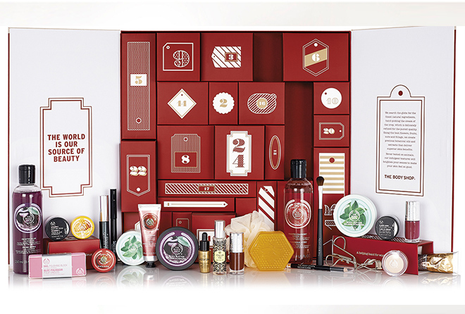 The Body Shop Christmas advent calendar 2015