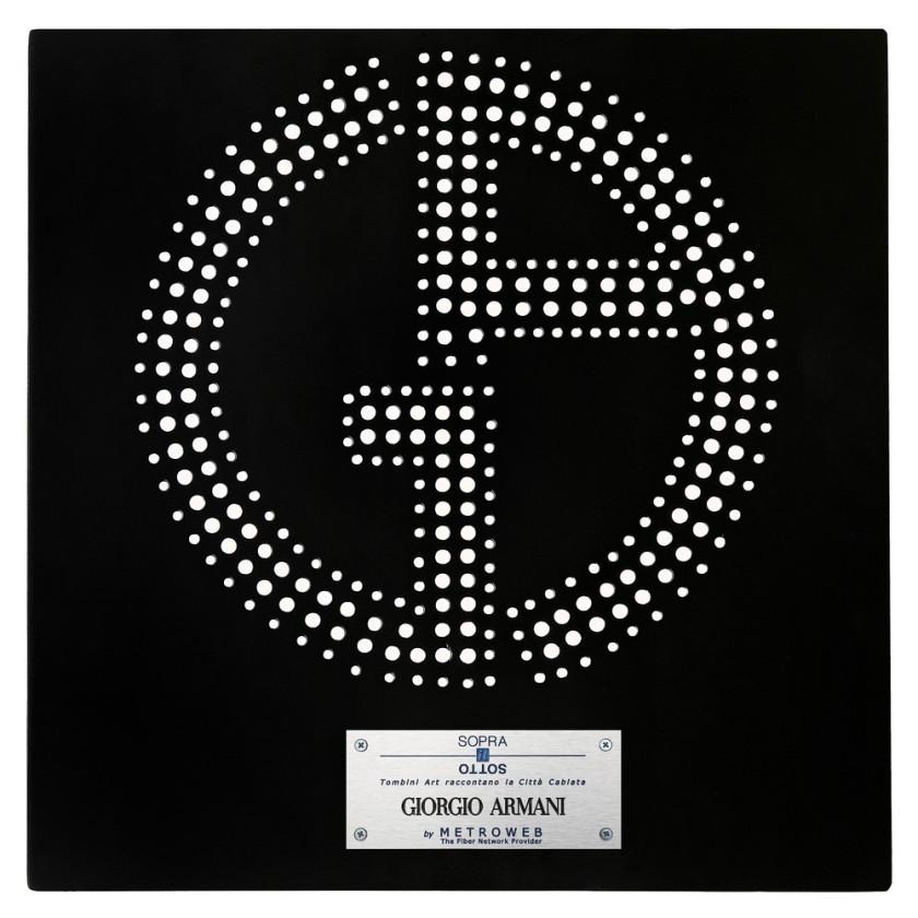 Giorgio Armani Manhole Covers by fashion designers Milan