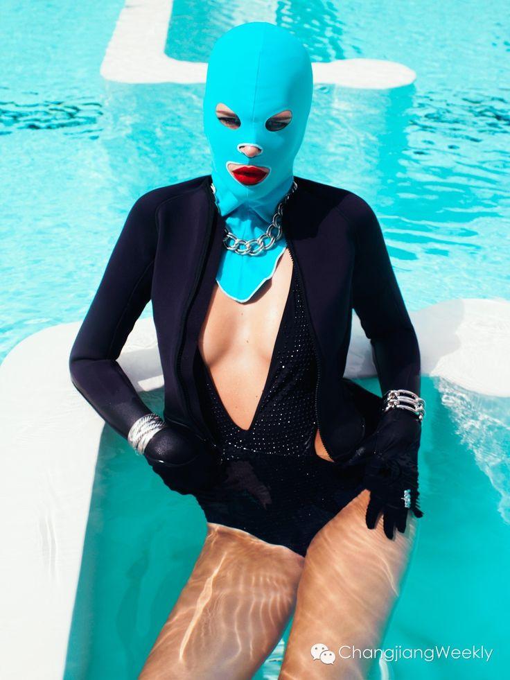 Carine Roitfeld Vogue facekini