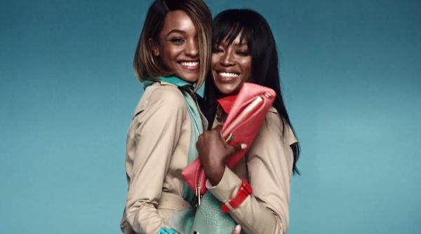 naomi and jourdan for burberry image