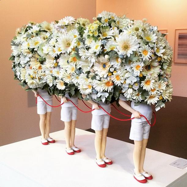 Daisy train by Yoshiyuki Ooe at Tezukayama Gallery at Art14