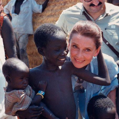 Audrey Hepburn by Robert Wolders in Sudan
