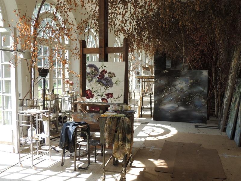Claire Basler artist home Chateau Beauvoir