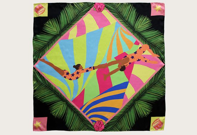 Cleo Ferin Mercury Trapece artists scarf