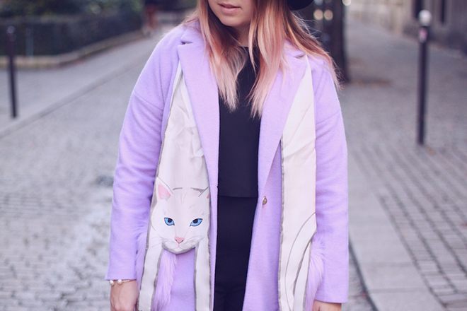 Lazykat wearing Cleo Ferin Mercury