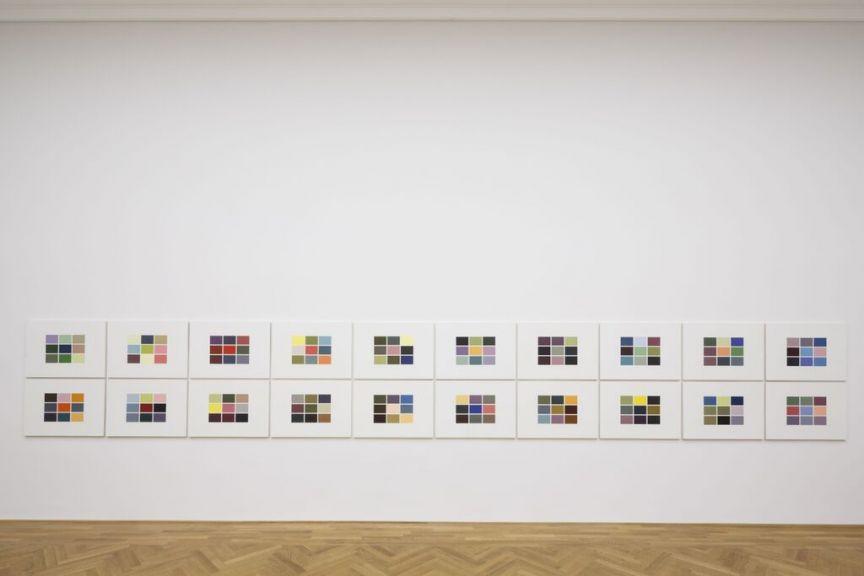 Gerhard Richter at Dominique Levy colour charts Frieze week 2015