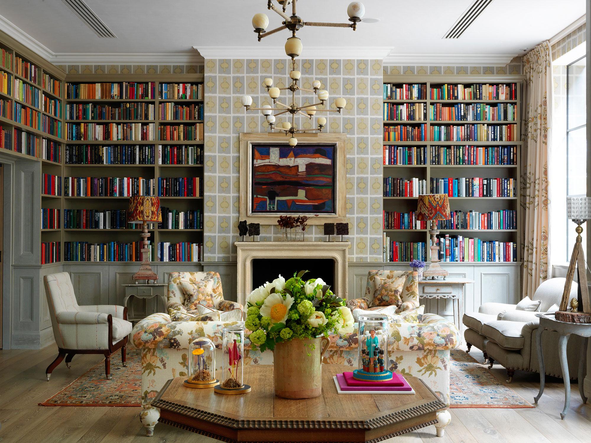 Ham Yard Hotel London library room