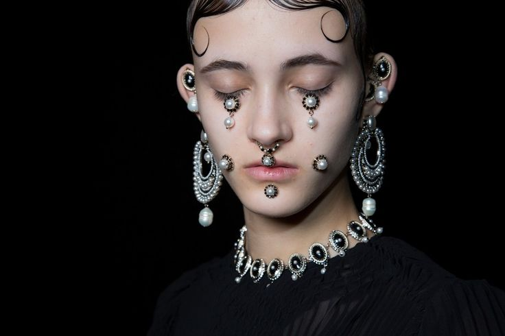 Givenchy FW15 septum rings and facial jewellery