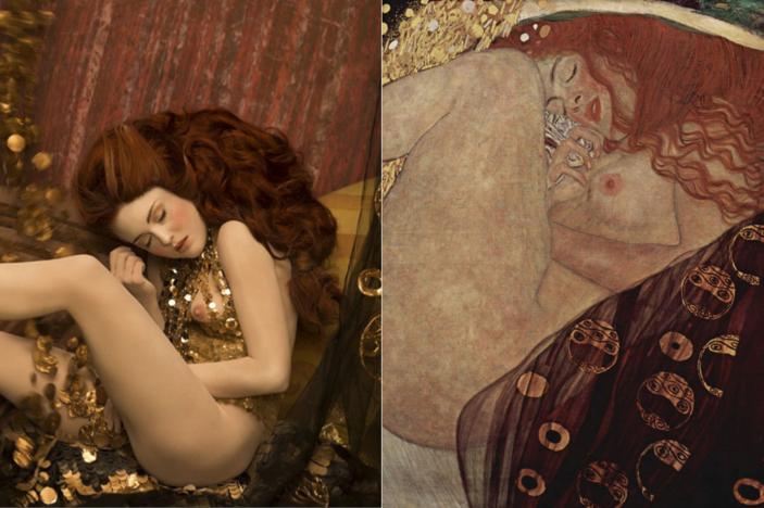 Danae Models recreate Gustav Klimt's most iconic paintings. Photos Life Ball and Inge Prader